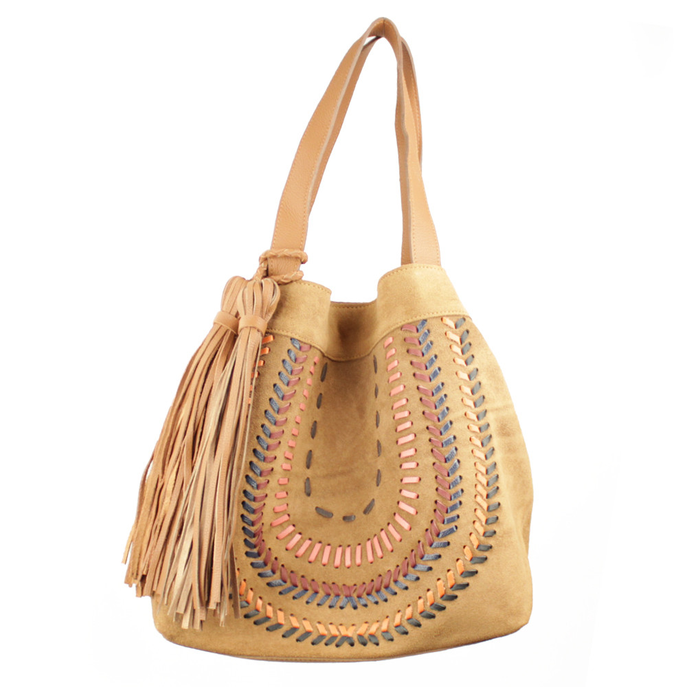 Bolsa Made in Lida Feminina Caramelo X5