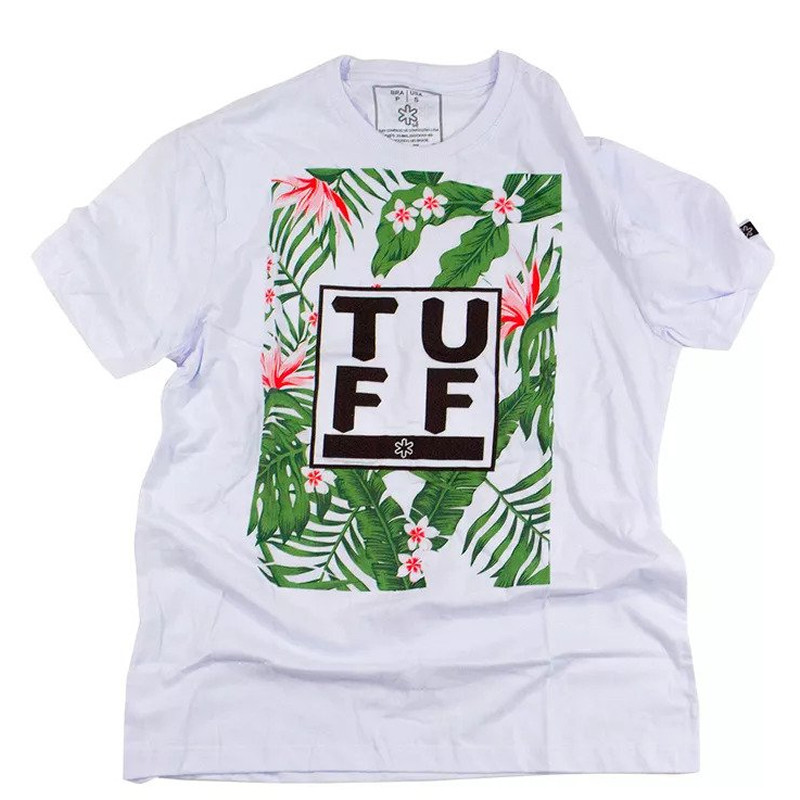 Camiseta Tuff Masculina Branca Patters Color TS1199