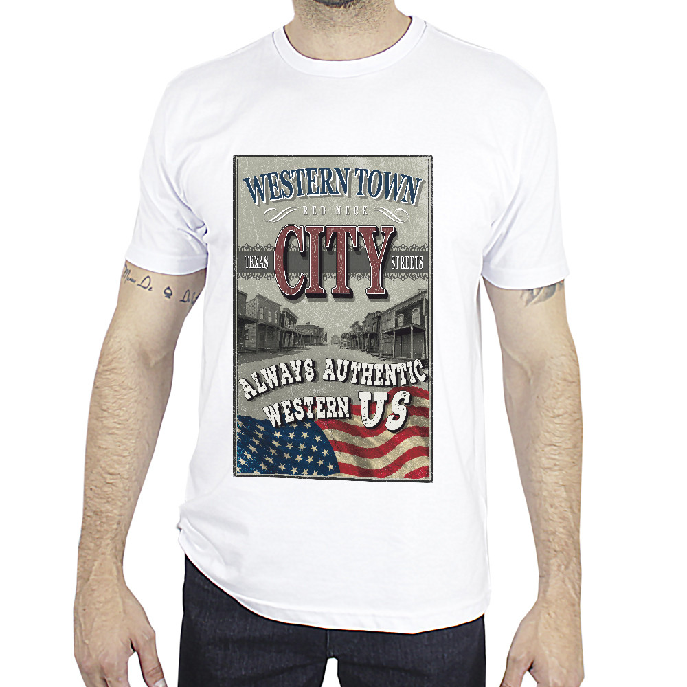 Camiseta Made In Lida City Western Branca