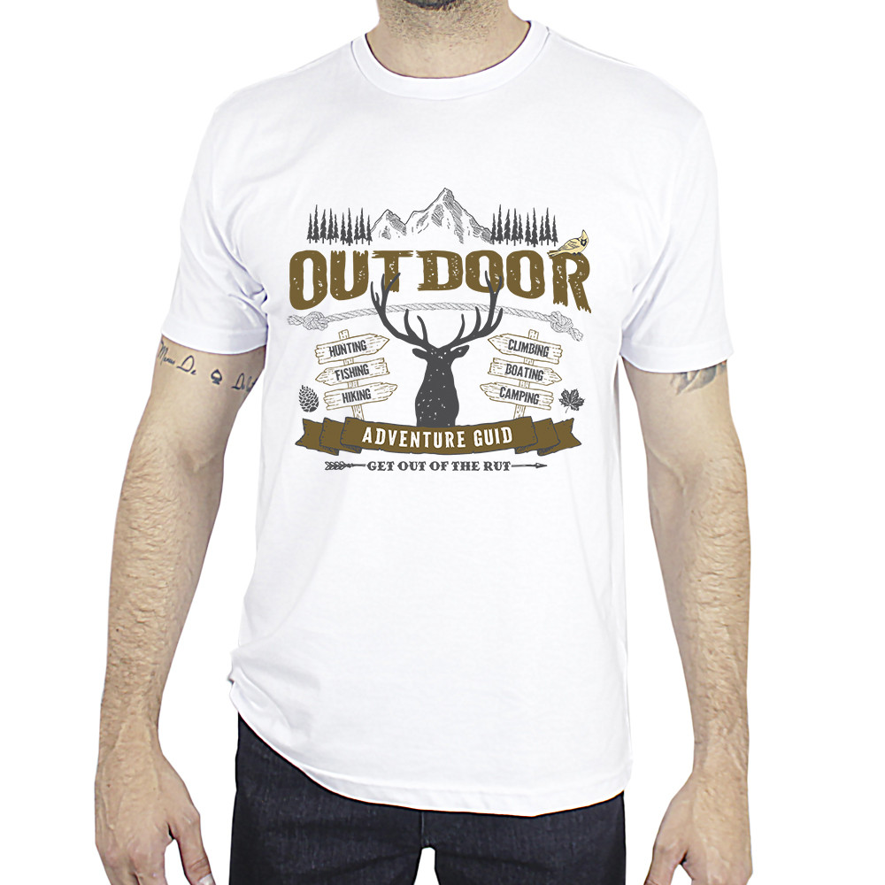 Camiseta Made in Lida Masculina Outdoor Branca