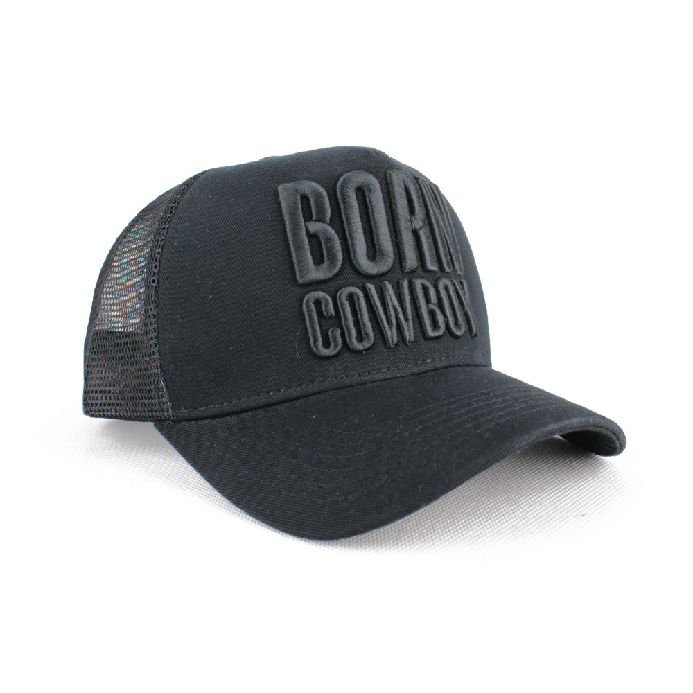 Boné Made in Lida Born Cowboy Preto - U